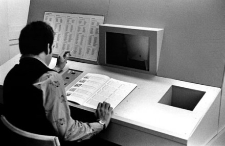 Interactive interface of the simulation Meta Filter, 1973–75