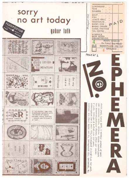 Ulises Carrión, Aart van Barneveld & Salvador Flores (Hrsg.): Ephemera No. 6: sorry no art today — Amsterdam: Other Books and So, 1978